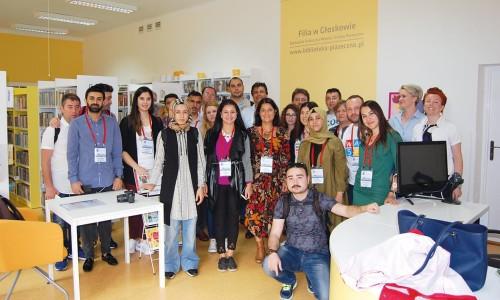 Wizyta bibliotekarzy z Turcji iMołdawii w Piasecznie