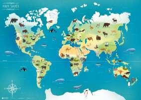 Ilustrowana mapa świata zwierząt