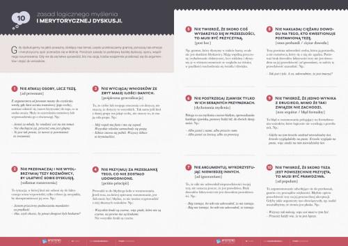 10 zasad logicznego myślenia i merytorycznej dyskusji