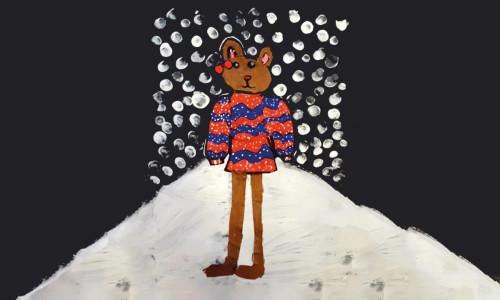 Leśne zwierzątka w zimowych sweterkach