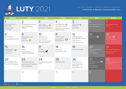 Kalendarz na luty 2021