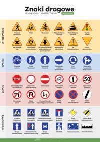Znaki drogowe dla pieszych i rowerzystów