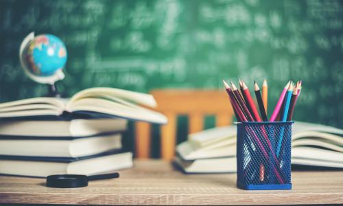 Nauczyciel bibliotekarz w szkole i bibliotece szkoły średniej
