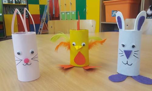 Wielkanocne pomysły z papierowych rolek