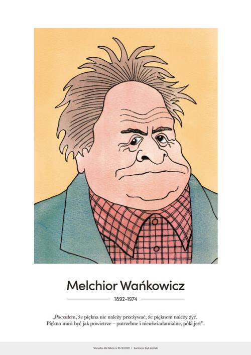 Melchior Wańkowicz – karykatura