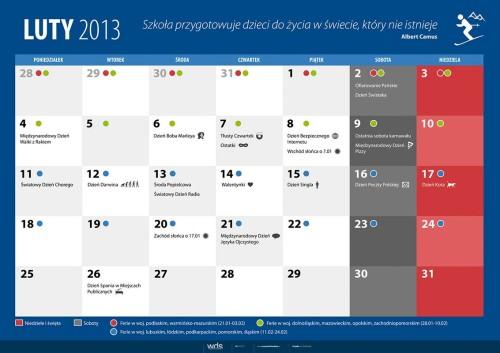 Kalendarz na luty 2013