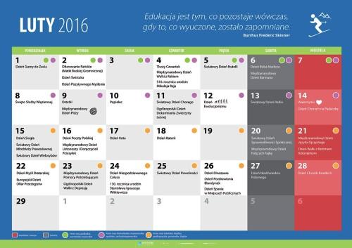 Kalendarz na luty 2016