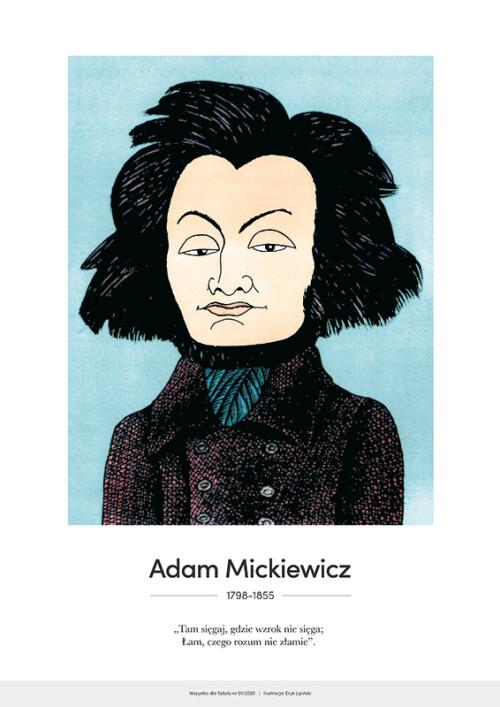 Adam Mickiewicz – karykatura