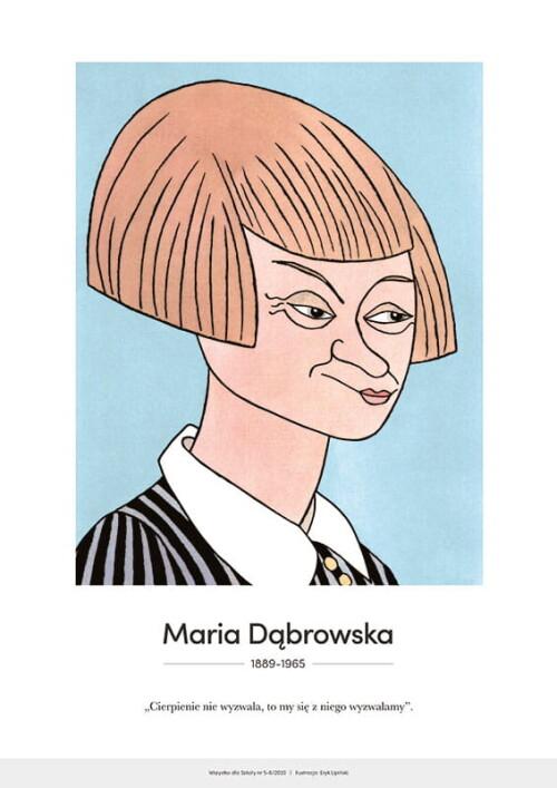 Maria Dąbrowska – karykatura